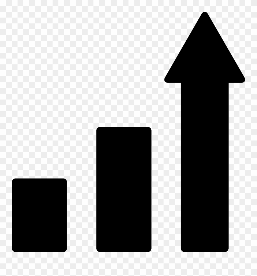 Ascending Bars Graphic With Up Arrow Comments Clipart.