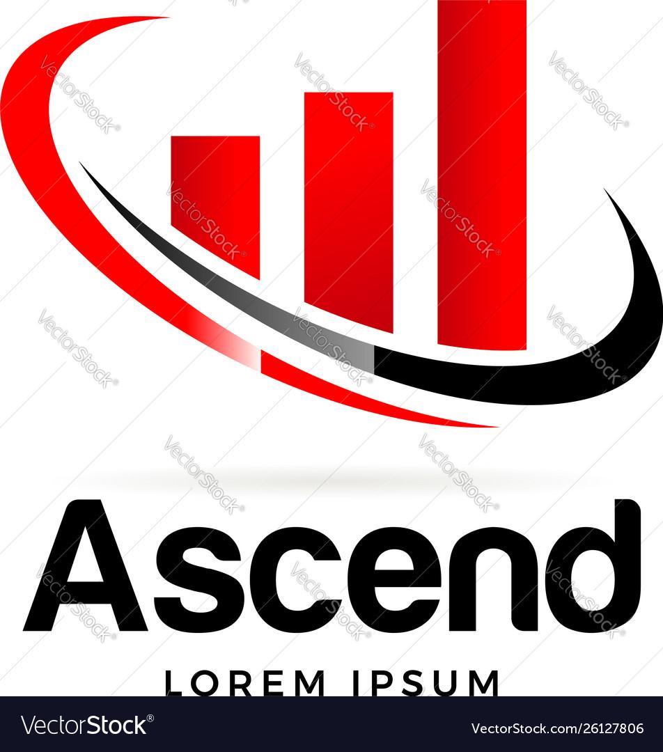 Ascend logo business symbol icon.