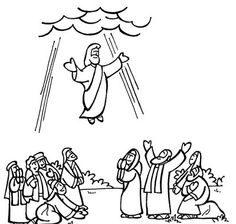 Clip Art Of Jesus Ascending Into Heaven Clipart.