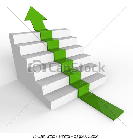 Ascending arrow clipart.