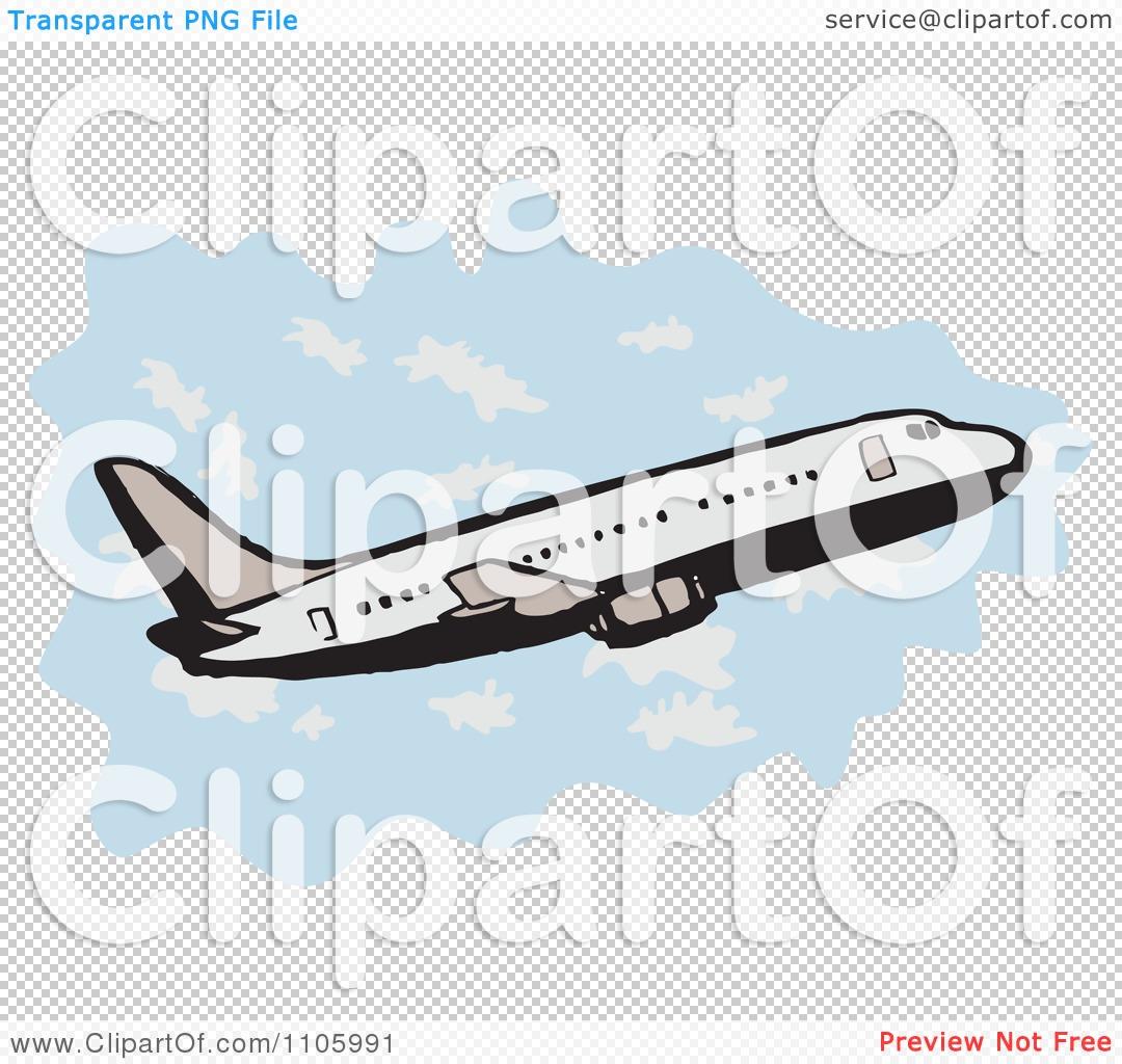 Clipart Jumbo Jet Commercial Airliner Plane Ascending.