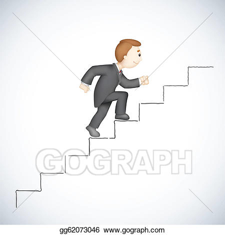 Stairs Side View Clipart.