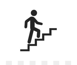 Person Climbing Stairs Clipart.