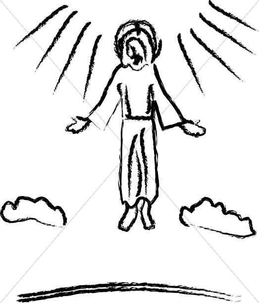 Ascension Jesus Clipart Images.