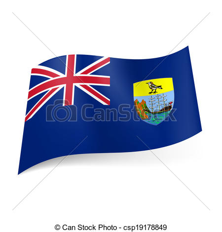 EPS Vector of Flag of Saint Helena, Ascension and Tristan da Cunha.