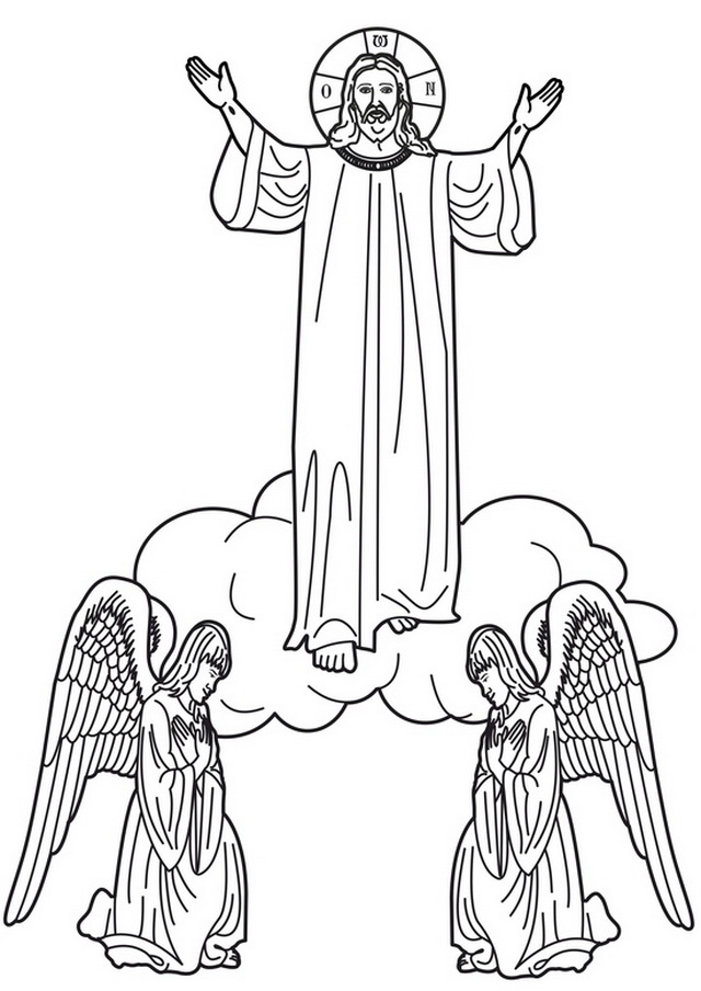 Christ ascension clipart.