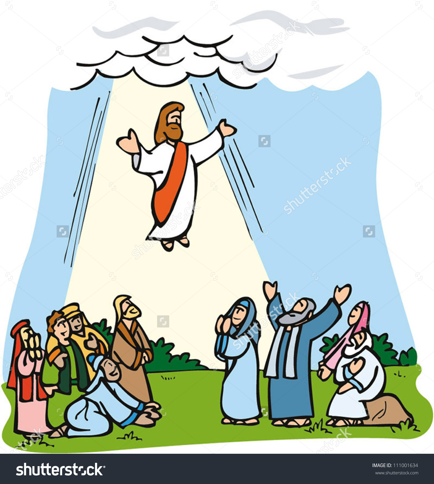 Clipart jesus ascension.