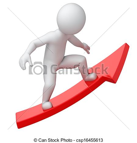 Clipart of board of success, 3d image with work path csp16455613.