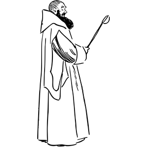 Monk 4 clipart, cliparts of Monk 4 free download (wmf, eps.