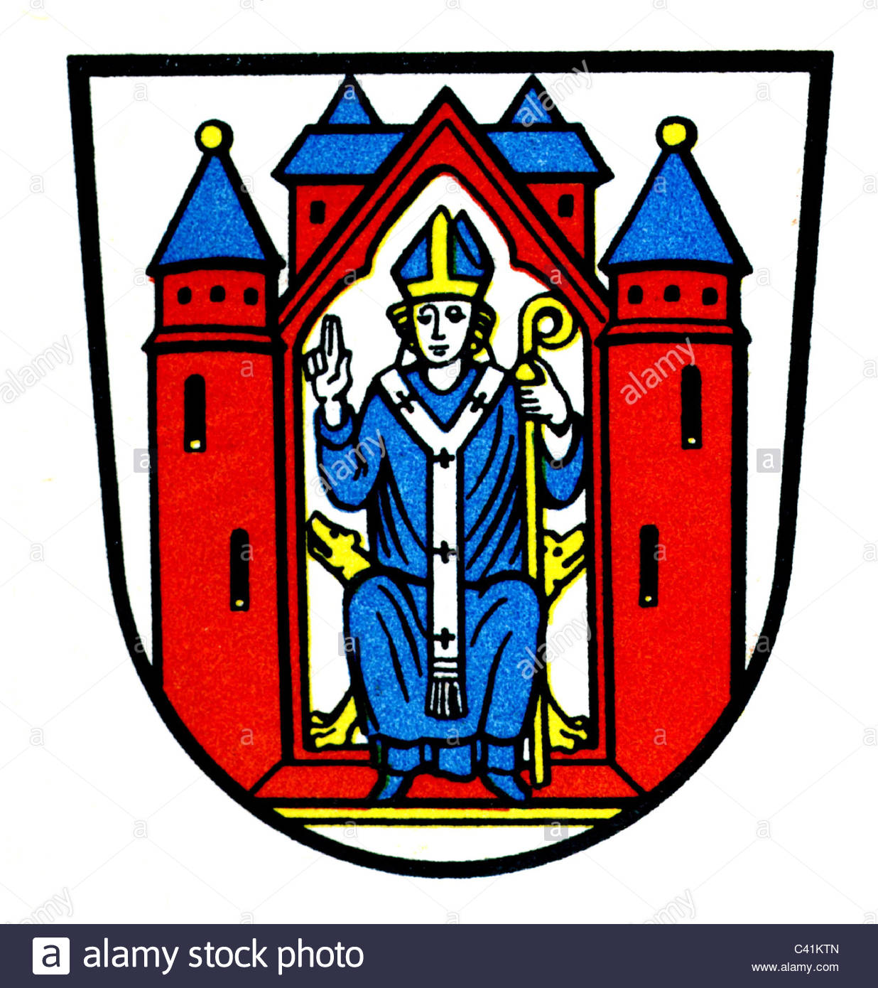 Coat Of Arms / Emblems, Aschaffenburg, City Arms, Bavaria, Germany.