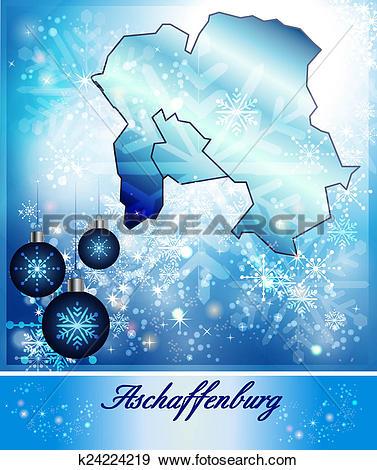 Stock Illustration of Map of Aschaffenburg k24224219.