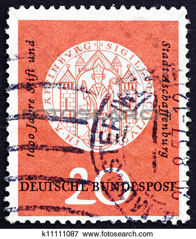 Picture of Postage stamp Germany 1957 Arms of Aschaffenburg, 1332.