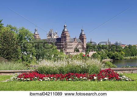 Stock Photograph of Johannisburg Castle, Aschaffenburg, Lower.