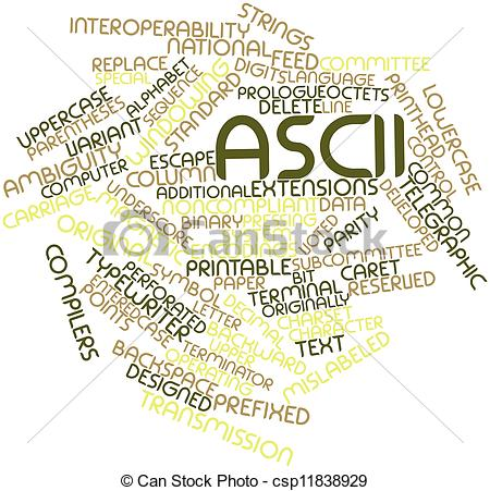 Clip Art of ASCII.