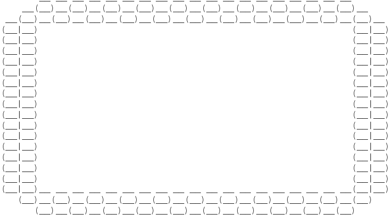 Free Clipart: ASCII Bubble Border 02.