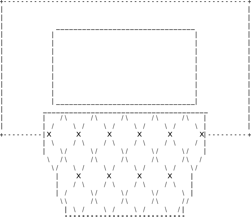 Free Clipart: ASCII Basketball Hoop.