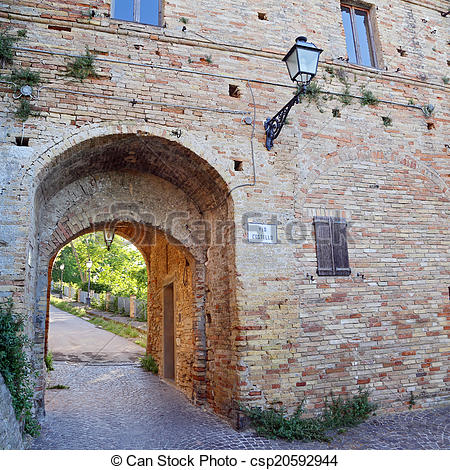 Stock Photo of Castle of the old town of Grottamare, Ascoli Piceno.