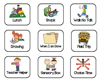 If and Then Chart First and Then Chart Autism ASD Visual Schedule Behavior.