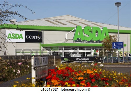 Front aspect of an ASDA retail.