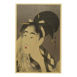 Japanese Woman Wood Wall Art.