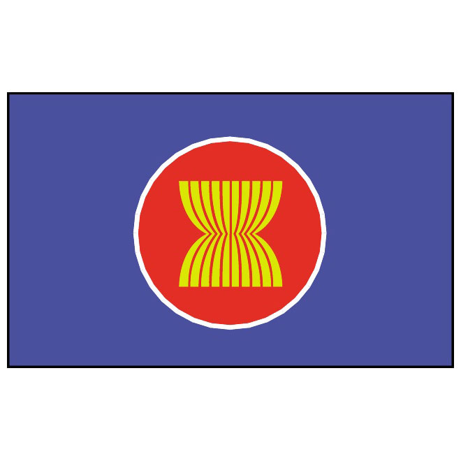 Vector flag of Asean.