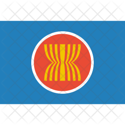 Asean Flag Icon.