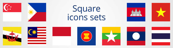 Free ASEAN icons sets.