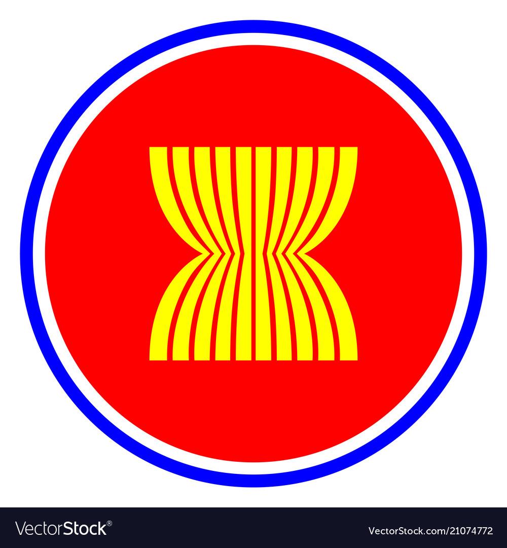 Asean economic community icon isolated.