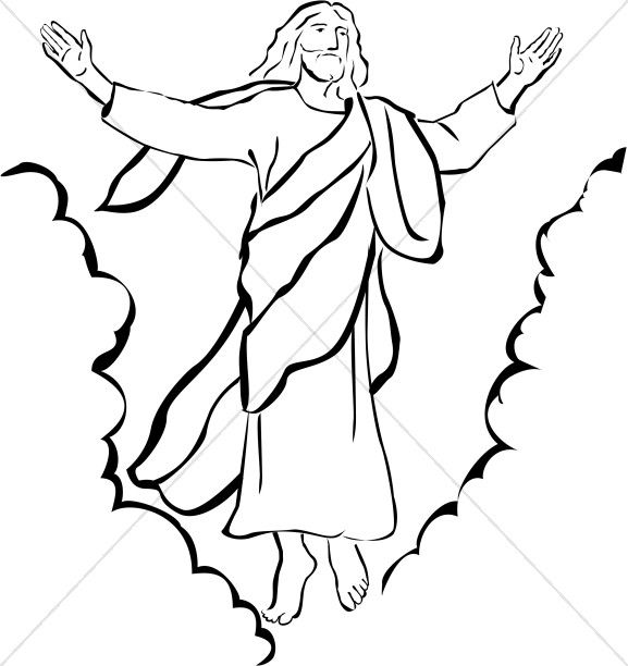 Ascension of Our Lord Christian Clipart.