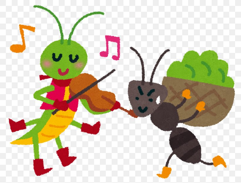 The Ant And The Grasshopper Aesop\'s Fables Gampsocleis.