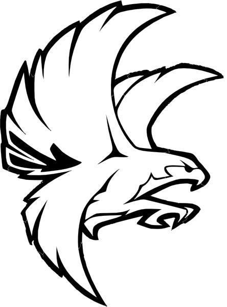 Falcon Vector Clipart.