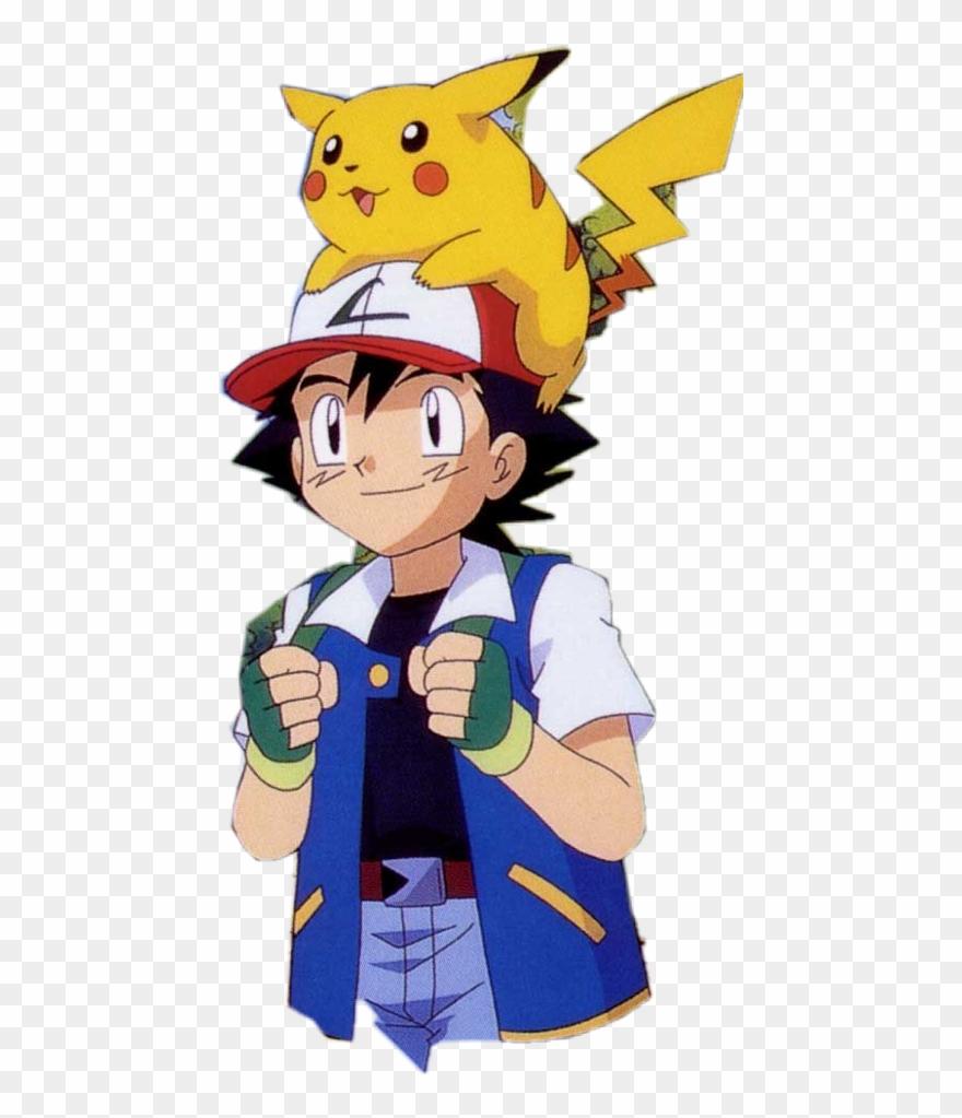 Ash Ketchum With Pikachu Clipart (#1828002).