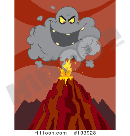 Ash cloud clipart.