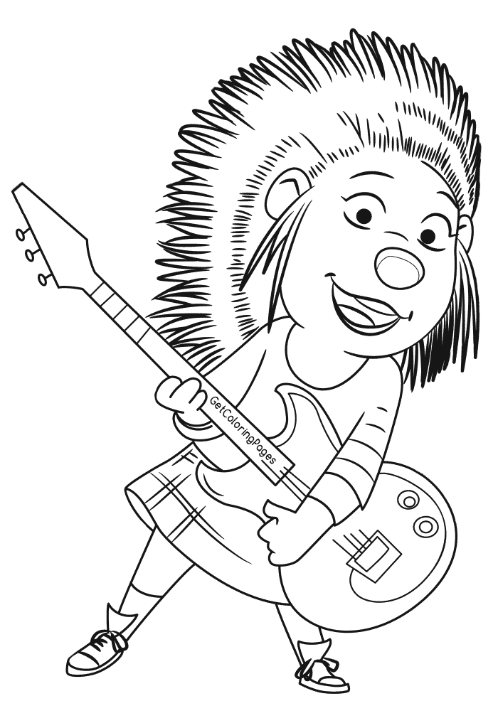 Sing Coloring Pages.