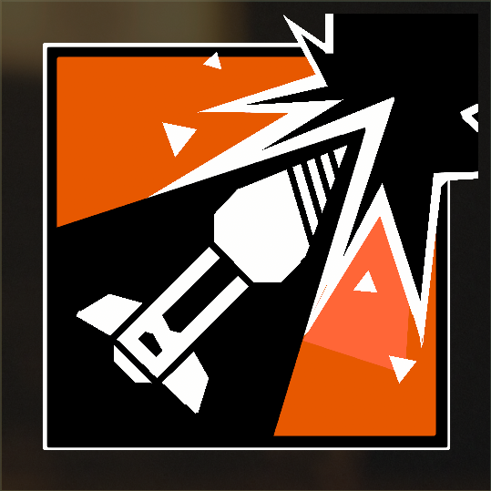 My attempt at an Ash logo in COD: BO4 : Rainbow6.