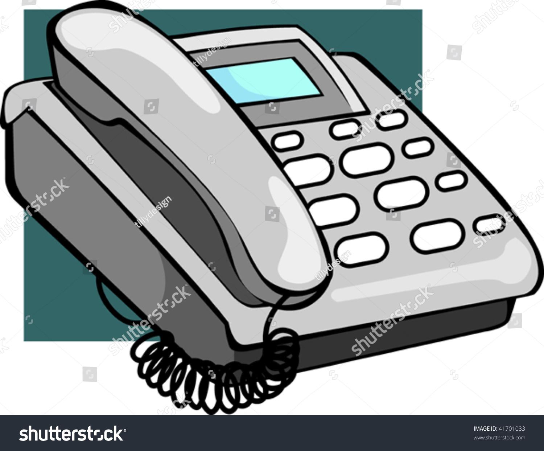 Illustration Ash Coloured Telephone Display Stock Vector.