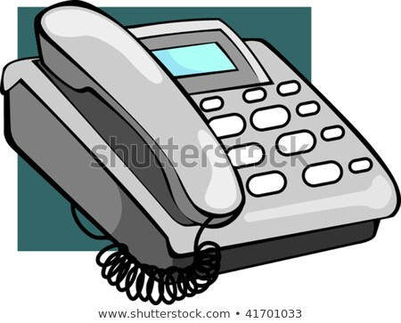 Illustration Ash Coloured Telephone Display Stock Vector.