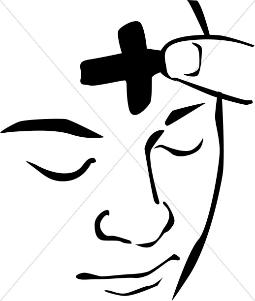 Ash Wednesday Face Clipart.