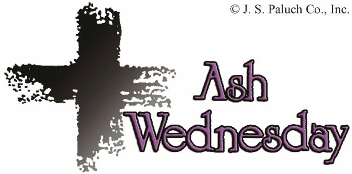 Ash Wednesday Cliparts.