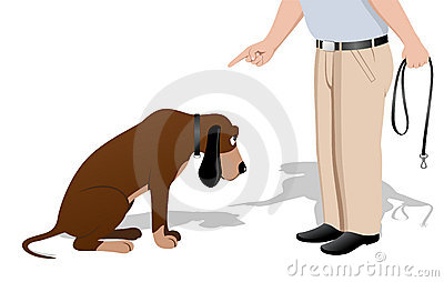 Guilty Dog Stock Images.