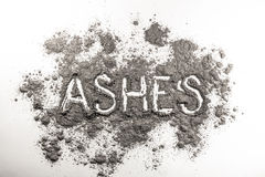Ash Word Written Ashes Stock Photos, Images, & Pictures.