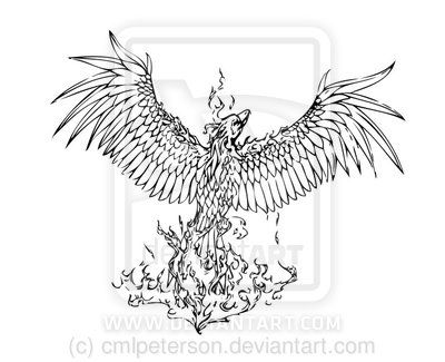 Phoenix from ashes clipart.
