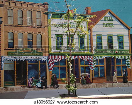 Picture of Ashland, WI, Wisconsin, Historic Wall Murals Dhooge's.