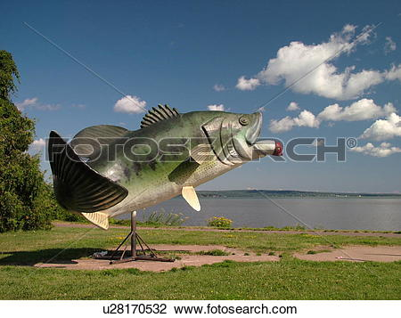 Stock Photo of Ashland, WI, Wisconsin, Lake Superior, Bass fish.