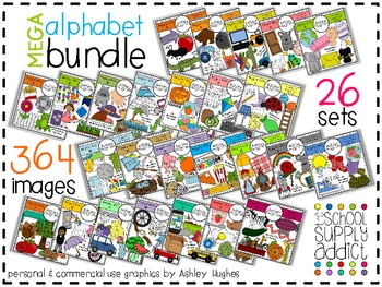 MEGA Alphabet Clipart Bundle N.