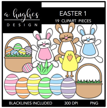 Easter 1 Clipart {A Hughes Design}.