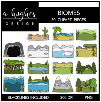 Biomes Clipart {A Hughes Design}.