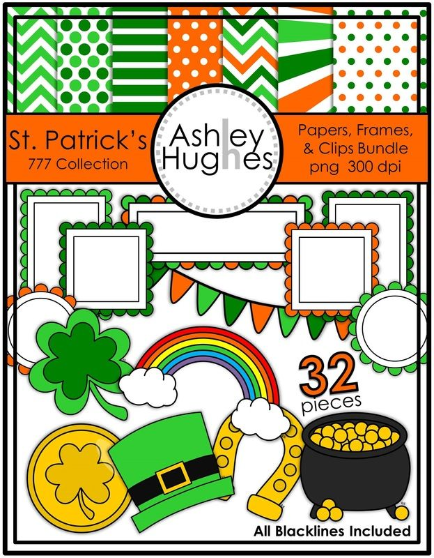 St. Patrick's Day Graphics Bundle from Ashley Hughes.