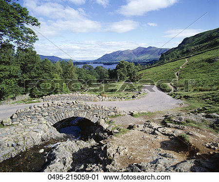 Stock Photography of England, Derwentwater, Keswick, Ashness.