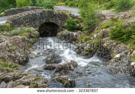 Ashness Bridge Stock Photos, Royalty.